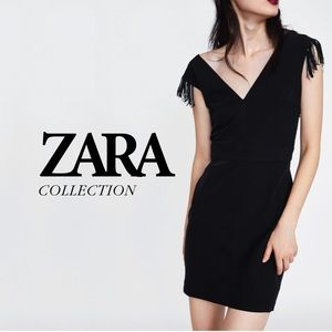 NWOT Zara Fringed Mini Dress